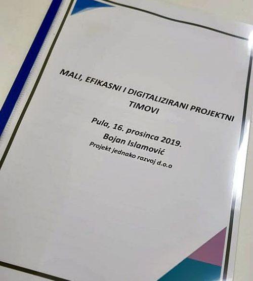 Edukacija Mali i efikasni projektni timovi